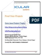 Core Java Application Projects Ocularsystems.in