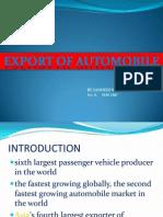 Export of Automobile -By Sandeep Kumar Sec A