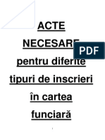 ACTE Inscriere in Cartea Funciara