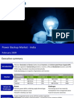 Market Research India - Power Backup Market in India 2009