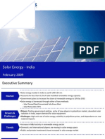 Market Research India - Solar Energy Market in India 2009