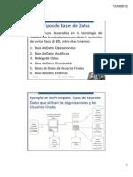 Tipos de Base de Datos