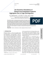 Molecular Dynamics Simulations OfNoble Gas Release From Endohedral FullereneAggregates Due to Cage Disintegration