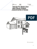 Protocols for Radon and Radon Decay Product Measurement in Homes
