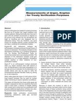 Ultra-Low-Level Measurements of Argon, Kryptonand Radioxenon for Treaty Verification Purposes