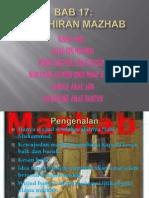 Bab17.Kelahiran Mazhab
