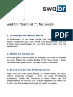 swabr 7 Schritte und Ihr Team ist fit für swabr DE