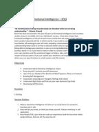 Emotional intelligence thesis proposal