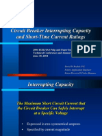 Circuit Breaker Interrupting Capacity Short Time Current Ratings