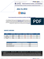 ValuEngine Weekly Newsletter July 13, 2012
