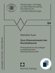 Würzburger Vorträge zur Rechtsphilosophie, Rechtstheorie und Rechtssoziologie