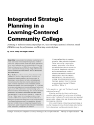 Integrated Strategic Planning in a Learning-Centered Community College