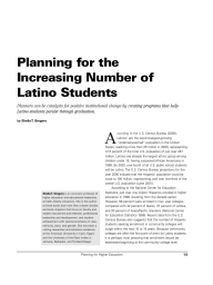 Planning for the Increasing Number of Latino Students