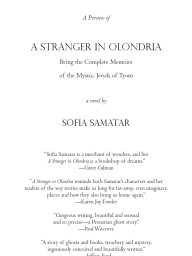 Sofia Samatar, A Stranger in Olondria  Free Preview Chapbook