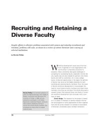 Recruiting and Retaining a Diverse Faculty