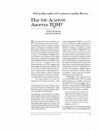 Has the Academy Adopted TQM?