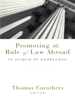 Promoting the Rule of Law Abroad: In Search of Knowledge