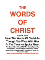 THE WORDS OF CHRIST By St JOHN