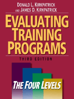Evaluating Training Programs