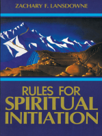 Rules for Spiritual Initiation