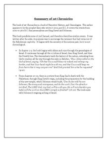 1st Chronicles Summary
