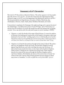 2nd Chronicles Summary
