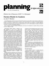 Decision Models for Academe