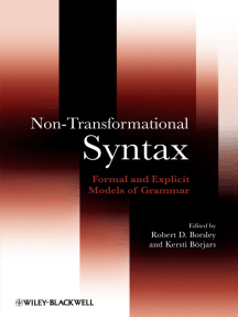 Non-Transformational Syntax: Formal and Explicit Models of Grammar