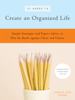 31 Words to Create an Organized Life