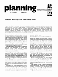 Campus Buildings And The Energy Crisis