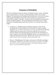 Habakkuk Summary