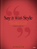 Say It With Style