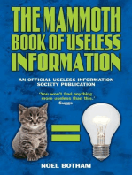 The Mammoth Book of Useless Information
