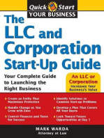 The LLC and Corporation Start-Up Guide