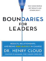Boundaries for Leaders