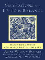 Meditations for Living In Balance