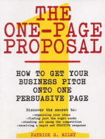 The One-Page Proposal