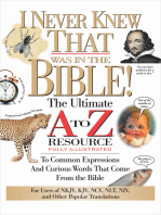 I Never Knew That Was in the Bible
