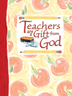 Teachers Are a Gift from God Greeting Book