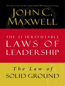 The Law of Solid Ground: Lesson 6 from The 21 Irrefutable Laws of Leadership