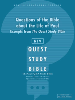 NIV, Questions of the Bible about the Life of Paul