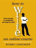 How to Write an Online Course