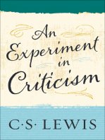 An Experiment in Criticism