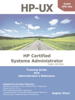 HP-UX: HP Certification Systems Administrator, Exam HP0-A01: Training Guide and Administrator's Reference, 3rd Edition