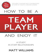 How To Be A Team Player and Enjoy It