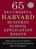 65 Successful Harvard Business School Application Essays, Second Edition
