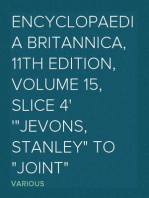 """Encyclopaedia Britannica, 11th Edition, Volume 15, Slice 4 """"Jevons, Stanley"""" to """"Joint"""""""