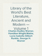 Library of the World's Best Literature, Ancient and Modern — Volume 1