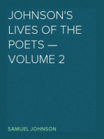 Johnson's Lives of the Poets — Volume 2