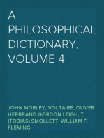 A Philosophical Dictionary, Volume 4